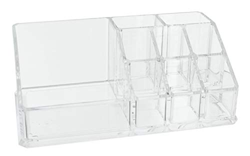 Kosmetik-Organizer Make-up-Organizer, Sortierkasten für Beautyprodukte, transparent (17,3 x 9,4 x 6,6 cm)