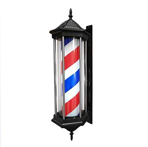 Mutmi Barbería barbería barbería Peluquero pórbero lámpara Escudo de Pelo con lámpara LED Tabla roja Peluquería Rojo Rojo Rojo Lámpara giratoria de Pared Tradicional -78 cm / 31 en A /