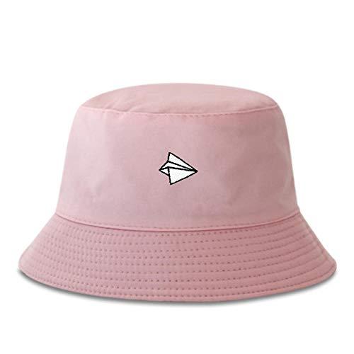 ZHENQIUFA Sombrero Pescador Gorras Moda Deportes Hombres Sombrero De Pescador Sombreros De Cubo Bordados Mujeres Sombrero para El Sol Al Aire Libre Sombrero De Papá Hip Hop Sombreros De Panamá-Rosa