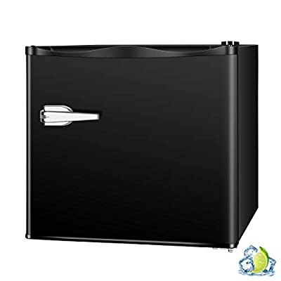 R.W.FLAME Upright Compact Freezer 1.2 Cu.ft, FreeStanding Mini Freezer with Single Door and Shelf, Adjustable temperature control, Cold Storage of Food & Beverage for Home, Office, Apartment(Black)