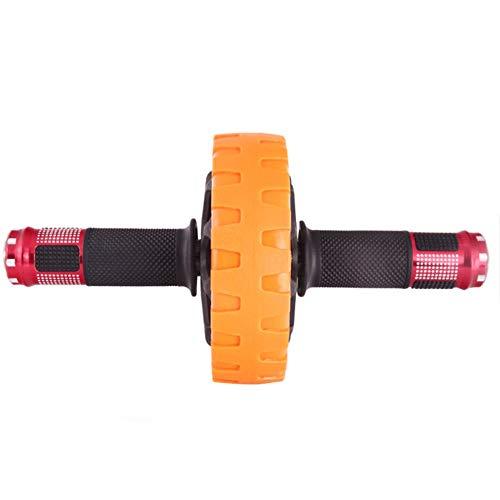 XMGJ Abdominal Rad, zu Hause Fitnessgeräte Fitness-Rad Männer und Frauen High-End-Einrad doppelt gelagerter Bauch Rad Orange Abs (Color : Orange)