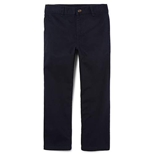 The Children's Place Boys Slim Size Uniform Chino Pants, New Navy, 8 Slim