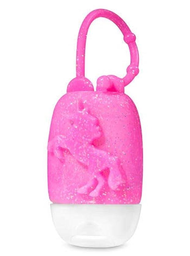 絶滅したハンディキャップ日の出【Bath&Body Works/バス&ボディワークス】 抗菌ハンドジェルホルダー ピンクグリッターユニコーン Pocketbac Holder Pink Glitter Unicorn [並行輸入品]