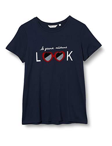 Naf Naf Ment70 Camiseta, Azul (Bleu Marine 567), Small para Mujer