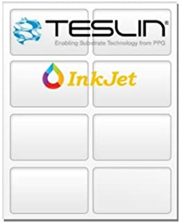 Teslin Synthetic Paper - for Inkjet Printers - Micro-Perforated 8-up - 10 Mil   25 Sheets