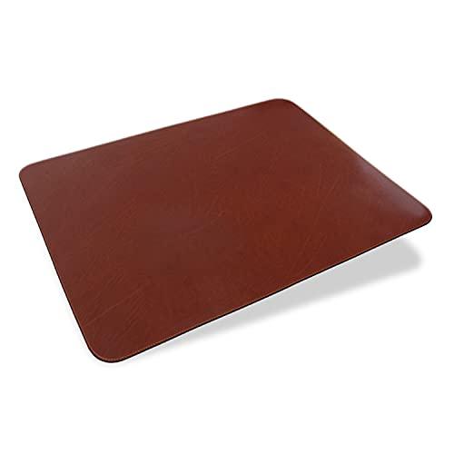 Memoria ALEXANDER - Vade de escritorio de piel auténtica en color marrón, 65 x 50 cm