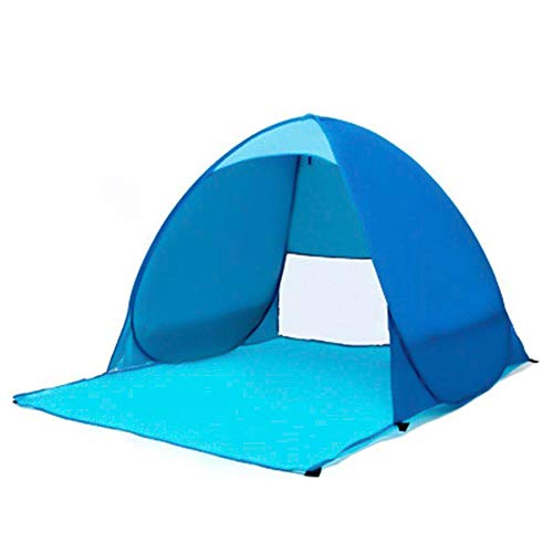 MBUHJ Pop Up Tent, Beach Camping Tent Foldable Outdoor UV Lightweight Waterproof Tent for 2-3Man, for Beach, Garden, Camping, Fishing, Picnic, Well-ventilated (Sky blue)