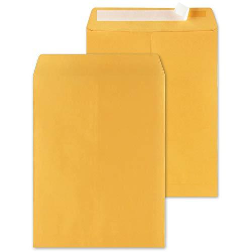 Shiplies Self-Seal Kraft Catalog Envelopes, 50 Pack, 10 x 13 Inches