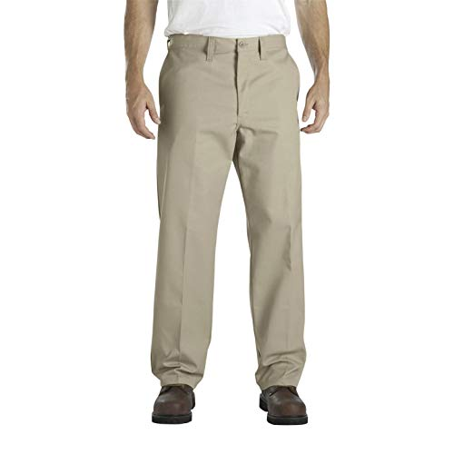Dickies - LP817 Männer Industrie-Flat Front Comfort Waist Pant, 34W x 34L, Khaki