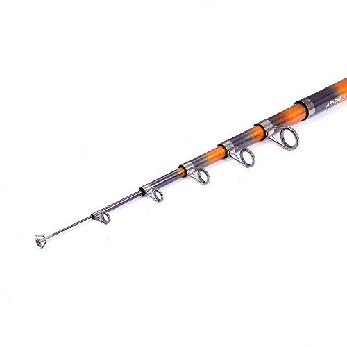 Mdsfe Canne da Pesca 1Pcs 2.1m / 2.4m / 2.7m / 3.0m / 3.6m / Canna da Pesca telescopica Canna da Pesca in Fibra di Carbonio per Pesca alla Carpa Canna da Pesca a Spinning - 2,1 m