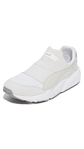 PUMA Select Men's Stampd Trinomic Sock Sneakers, Star White, 10 D(M) US