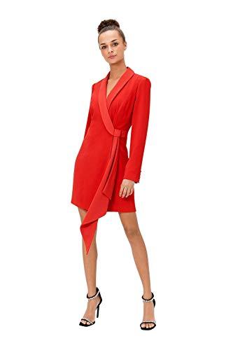 Ex Coast - Gefüttertes Smoking Kostüm, Rot, Größe 46