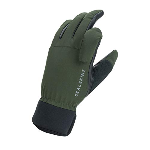 SEALSKINZ Glove Waterproof All Weather Shooting Glove, Olive Green/ Black, M, 12100085001320