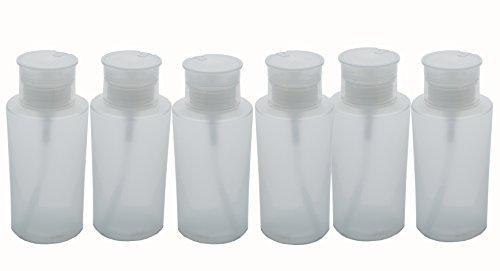 Fantasia Lot de 6 flacons pompe en plastique vide 220 ml