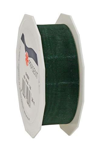 C.E. Pattberg SHEER Organzaband tannengrün , 25 m Geschenkband zum Einpacken von Geschenken, 25 mm Breite, Zubehör zum Dekorieren & Basteln, Dekoband für Präsente