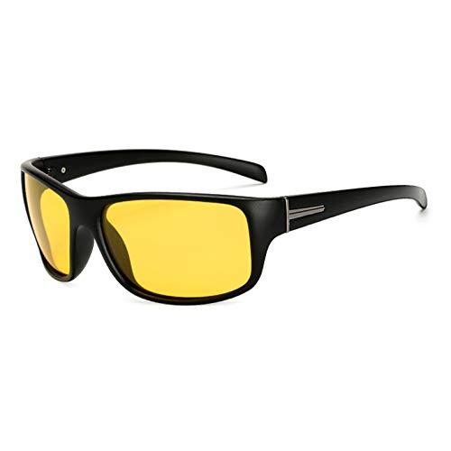 YTYASO Gafas de Sol polarizadas de visión Nocturna para Hombres y Mujeres, Lentes Amarillas cuadradas para Hombres y Mujeres, Gafas de Sol para Hombres