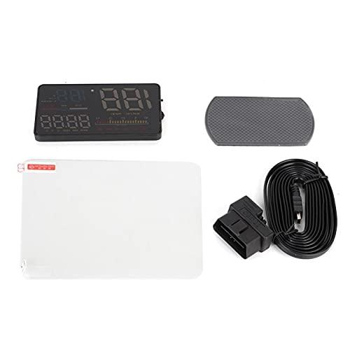 Head Up Display D5000 5in Universal Car HUD ODB2 Head Up Display Velocidad RPM Medidor de kilometraje de combustible