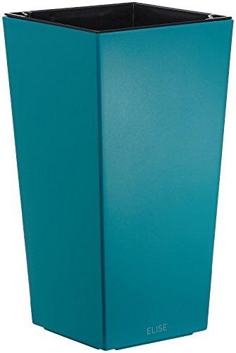 Plastkon Décoration Pot en de et Outdoor Pot Elise Mat 25 cm, Turquoise