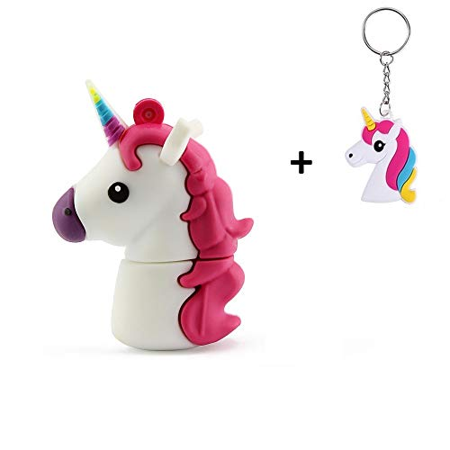 LYNNEO Einhorn Unicorn 16GB USB 2.0 Flash Drive Silikon Flash-Memory Stick Pen Drive Laptop Computer...