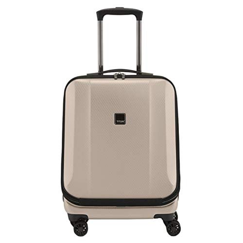 """TITAN Valise trolley business \""""Xenon Deluxe\"""" champagne Koffer, 55 cm, 40 liters, Beige (Champagne)"""