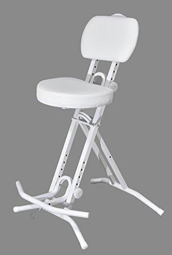 LIBEDOR Stehhilfe Stehhocker Stehsitz Sitz Sitzhilfe Stehstütze Weiß ergonomischer 6 cm Polster bis 130 kg belastbar TGB