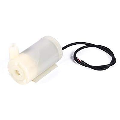 Garosa Mini Micro Pompes à Eau Submersibles 3-4.5V 100L / H Pompe à Moteur CC à Faible Bruit Taille Pratique Réservoir de Poissons pour l'aquarium