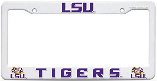LSU Tigers NCAA Plastic Raised Letters License Plate Frame