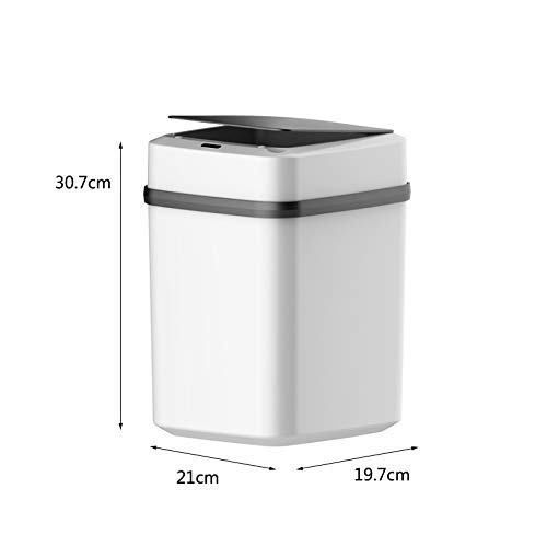 Induktion Trash Can Sensorfamilie Intelligent Macerate Bins automatische Induktion elektrische Abfalleimer Abfalleimer Ladetyp Batterietyp Bento Lunch Box for Kinder (Farbe: weiß) 1yess