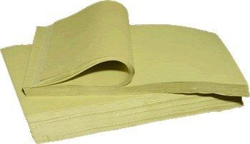 Carta gialla da imballo e da riempimento - Fogli cm. 45x65 - Confezione da Kg. 18 (circa 1750 fogli) - Carta sottile da sovraincarto ideale per avvolgere oggetti ed utilizzata per l'imballaggio di ceramiche ed articoli da regalo in genere