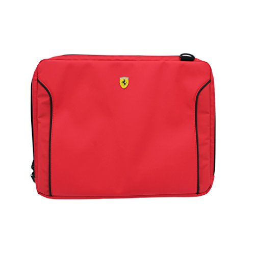 Ferrari Fiorano 11' Leather Laptop Computer Sleeve - Red/Black Trim FEDA2ICS11RE