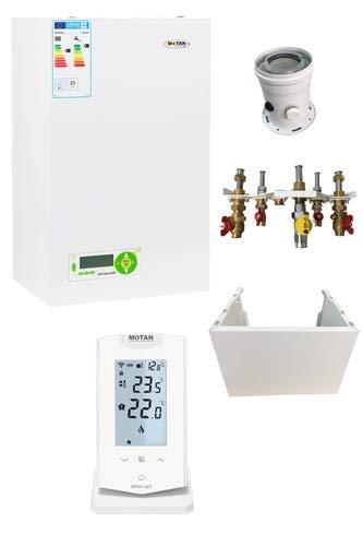 Komplettset Brennwerttherme 25 kW Kombitherme Brennwert Therme Gasheizung
