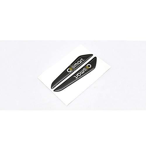 JTAccord Auto Styling Türkante Anti-Kollision Epoxy Aufkleber Stoßstange Streifenschutz für Smart 451 453 Fortwo Forfour, Zubehör, 1 Paar