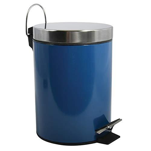 MSV Kosmetikeimer Blau Mülleimer Treteimer Abfalleimer - 3 Liter – mit herausnehmbaren Inneneimer