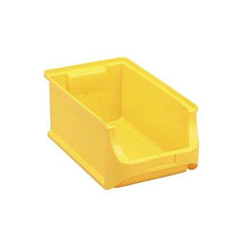 allit, gelb 456214 ProfiPlus Box 4, Stapelsichtbox, PP TÜV/GS, V: 7,6 L, Lagersichtbox, Sichtbox, Lagerbox, stapelbar, 4