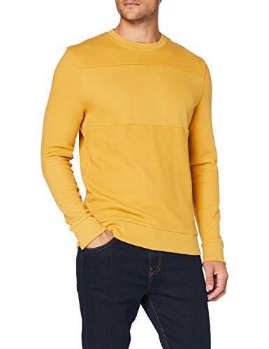 ESPRIT Herren 090EE2J301 Sweatshirt, Gelb (700/AMBER Yellow), Small