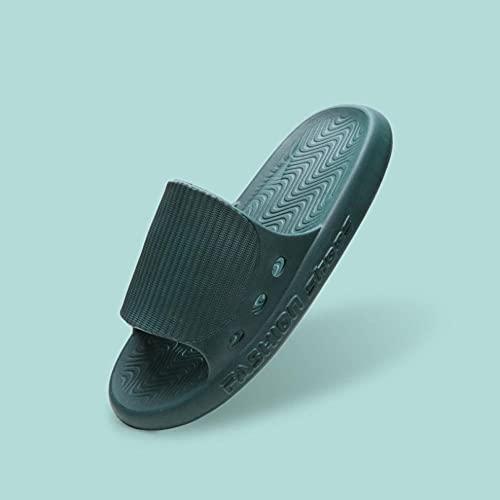 Sonze Shiatsu Massage Hausschuhe Reflexzonenmassage Sandalen,Erwachsene Fußmassage-Hausschuhe,Eva-Massagepantoffeln mit weichem Boden, Badezimmerpantoffeln-Grün B_40-41