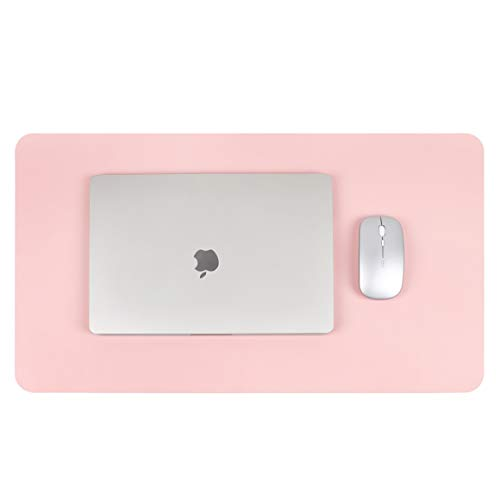 Writing Desk Pad,for Table, YSAGi Anti-Slip Thin Mousepad for Computers,Office Desk Accessories Laptop Waterproof Dual-Sided Desk Protect for Office Decor and Home (Pink, 23.6 x 13.7)