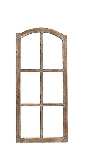 Fenster / Holzfenster Rahmen leicht gewölbt 50cm x 110cm Dekofensterrahmen Braun