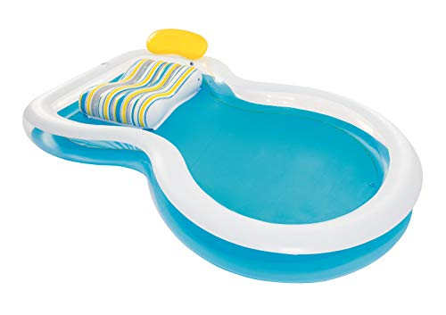 Bestway 54168 Staycation-Piscina Infantil (234 x 48 cm), Azul, Blanco