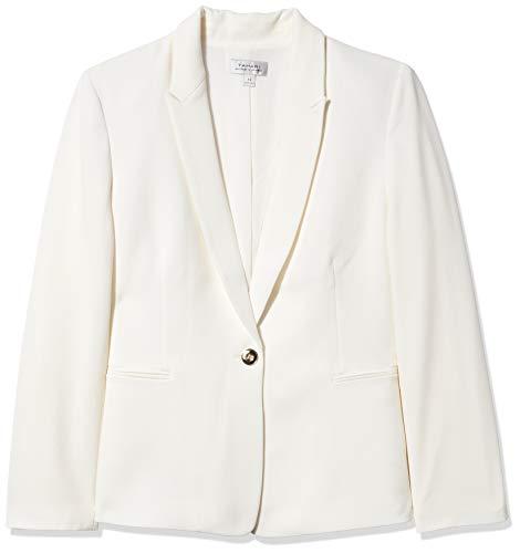Tahari ASL Women's Half Lined Basic Jacket, Ivory 6
