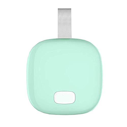 Maquillage Miroir LED Lumière d'appoint Double Face Bagage à Main Pliable Matériau ABS, Vert, Miroir 90 * 90 * 25 mm