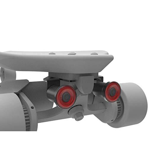 ENFITNIX Monopatín Xlite100SR Luz Smart LED Luces Sensing Impermeable USB Recargable Noche Advertencia Lámpara 2 Unids para Longboard Scooter Eléctrico