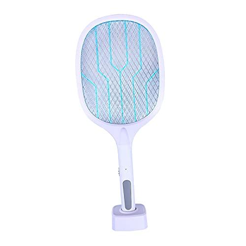 perfk 2 en 1 Bug Zapper, Matamoscas Eléctrico Matanza de Mosquitos, Fly Zapper Matamosquitos Adecuado para El Hogar Y Al Aire Libre, Cargador USB