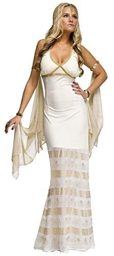Fancy Me Damen Sexy Lang griechische römische Göttin Aphrodite Venus Kostüm Kleid Outfit - Creme, Creme, 10-12