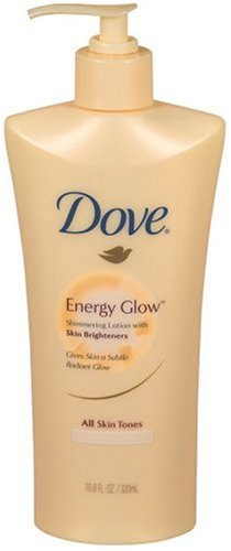Dove Energy Glow Shimmering Lotion, All Skin Tones, Packaging May Vary, 10.8 Ounce (320 Ml)