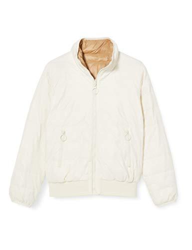United Colors of Benetton Damen Jacke Jacket, Weiß (White Beige 02F), 42 (Herstellergröße: 46)