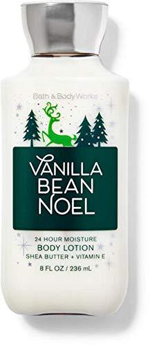 Bath and Body Works Body Care  Vanilla Bean Noel  24 Hour Moisture Body Lotion w/Shea Butter  Vitamin E  Full Size 8 fl oz