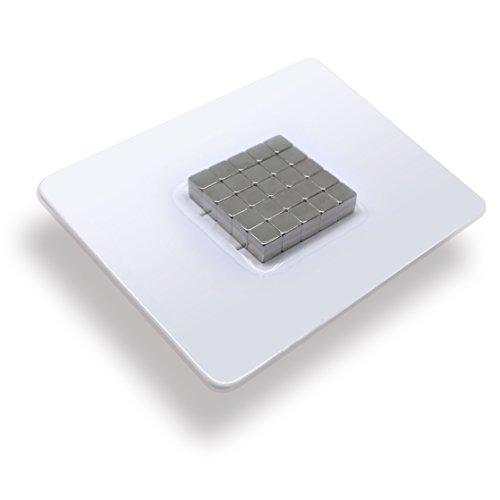 25 x Cubos magnéticos de neodimio   Imán / Imanes  5 x 5 x 5 mm   niquelados (NiCuNi)   Fuerza de sujeción (fza. sujec.): aprox. ~ 3 kg   25 uds. Cubo magnético