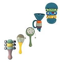 Tomaibaby 1セットベビー臼歯ガラガラつかんおもちゃ振る感覚早期教育玩具幼児新生児保育園
