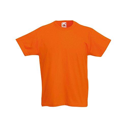 Fruit of the Loom Kinder Original Kurzarm T-Shirt (3-4 Jahre) (Orange)